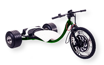 WOLFTRIKE Electric drift trike - green